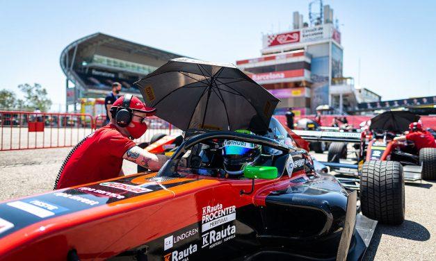 KIC Motorsport kartutti pistepussia Formula Regional EM-sarjan Barcelonan osakilpailussa