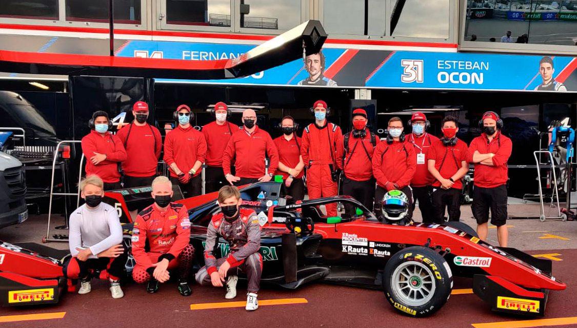 KIC Motorsport keräsi 20 pistettä dramaattisesta Monacon Formula Regional romukilpailusta