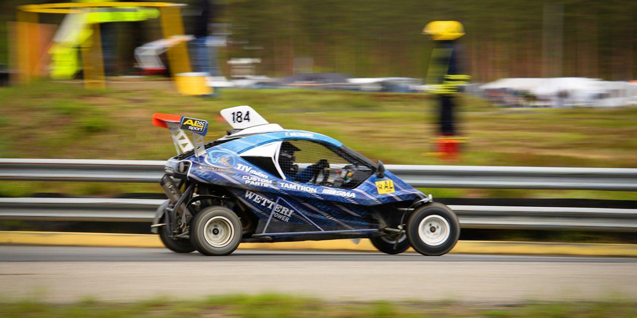 Elias Kalliokoski ajoi toiseksi Crosskartien SM-kauden avauksessa